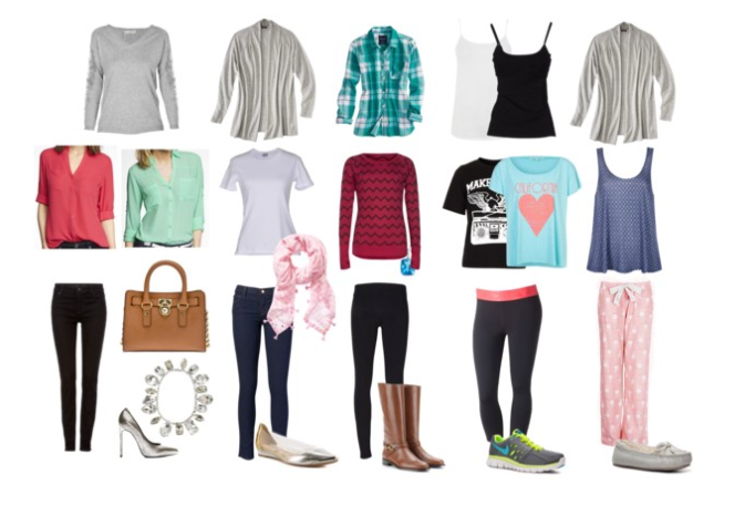 Clothing outfits for travel
