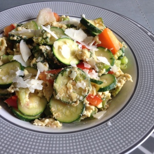 Egg veggie scramble